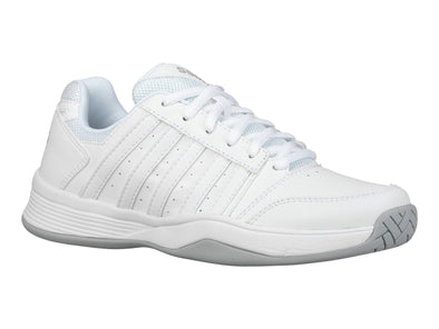 K SWISS Court Smash Women's Low Athletic Sneakers in White/White/High Rise