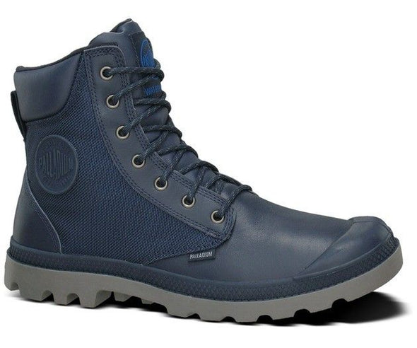 PALLADIUM Pampa Sport Cuff WP2 Indigo/Metal Men's Lace Up Ankle Chukka Boots