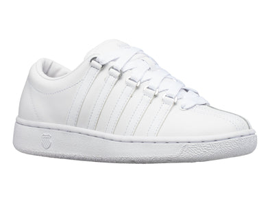 "K-SWISS ""The Classic"" Men's Low Top White Leather Tennis Shoes"