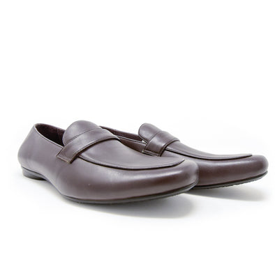 Encore by Fiesso Coffee Brown Men's Leather Dress Loafers FI-3084