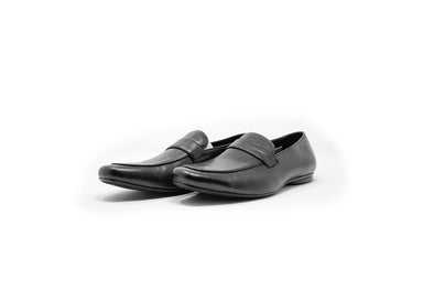 Encore by Fiesso Black Men's Leather Dress Loafers FI-3084