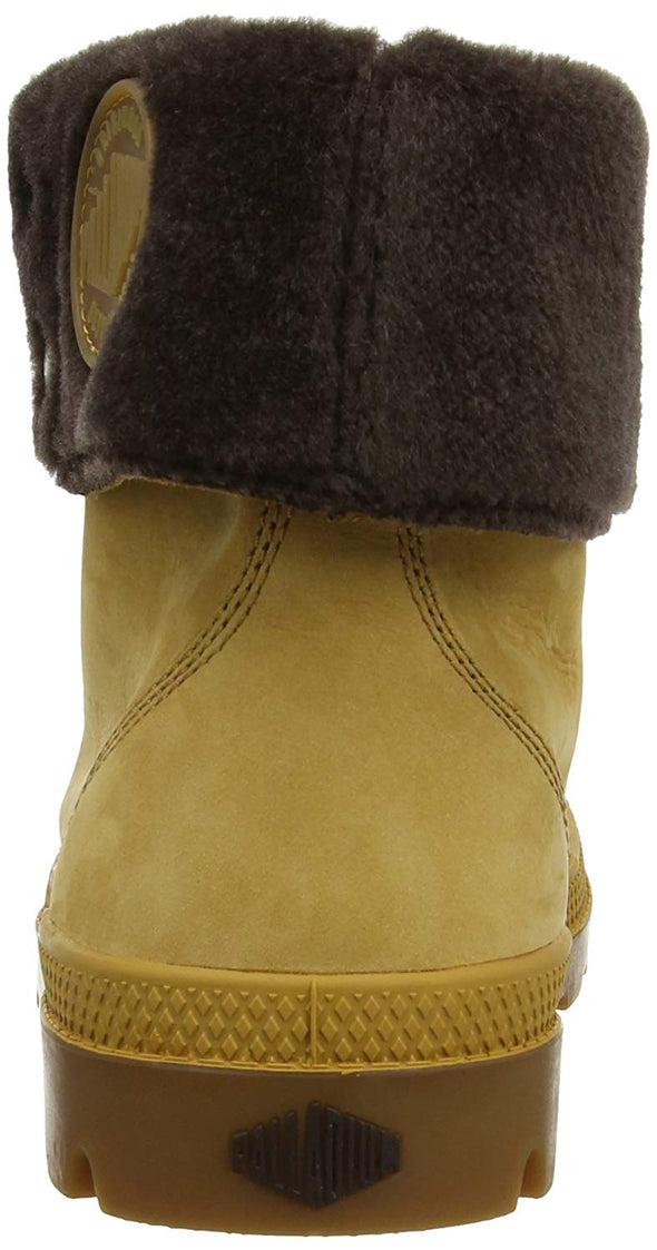 Palladium Baggy Leather Boots Amber Gold/Choco (Chocolate Cuff & Accents) Men's Size 10