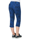 Democracy Flex-ellent Convertible Utility Crop Ensign Blue Floral Print