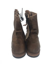 NIB By Bed Stu Ladybird Tan Suede Dip Dye Women's Ankle Boots Front Tie Side Zip