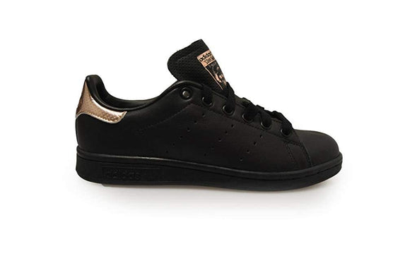 adidas Women's Core Black W Rose Gold STAN SMITH Classic Trainers Sneakers