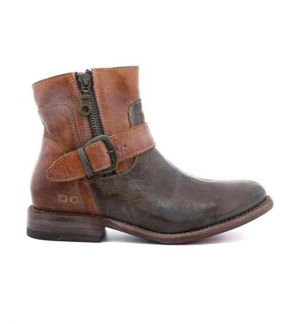 Bed Stu BECCA Taupe Rustic Tan Rustic Mason Women's Boots Side Zip