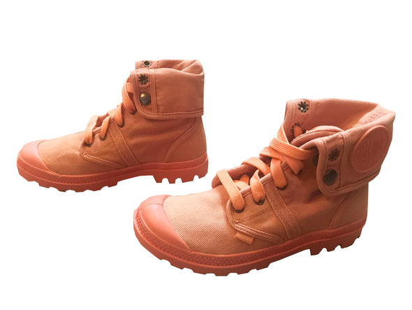 Palladium Pallabrouse Baggy Women's Chukka Lace-Up Boots Coral Peach Whip