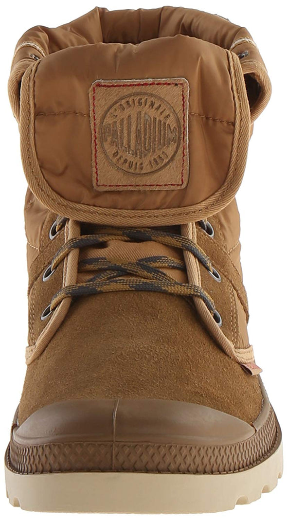PALLADIUM Pallabrouse Baggy Dore/Mohave Desert Men's Quilted Fold Over Lace Up Hiking Boots