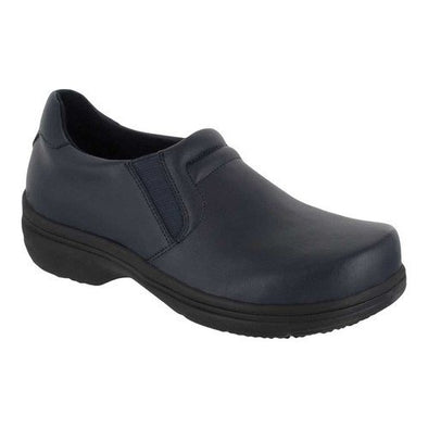 Easy Works by Easy Street Bind Black Leather Slip Resistant Work Shoe Women's 8 W