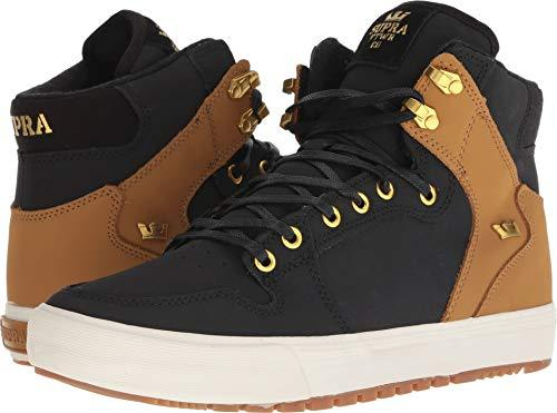 Supra Vaider Men's Hi-Top Skate Boarding Shoe Black/Tan-Bone