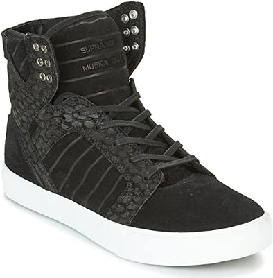 Supra Skytop Black Cayman Men's Athletic Skateboarding Skate Shoe