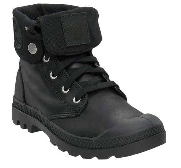 Palladium Baggy Leather Women's Lace-Up Ankle Boot BLACK