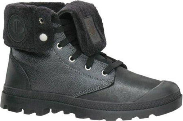 Palladium Baggy Leather Men's Black/Silver Ankle Lace-Up Boots