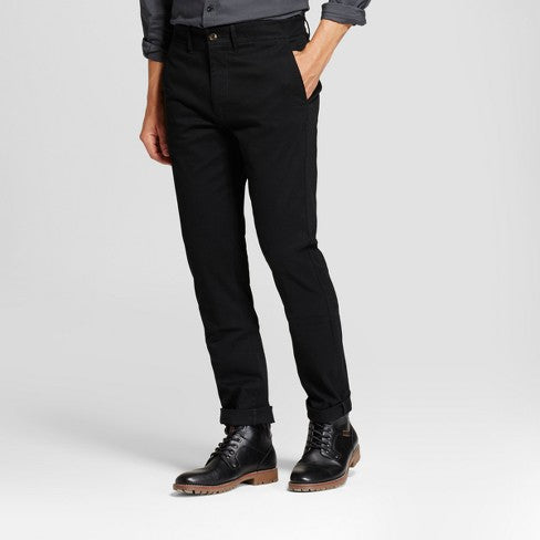 Goodfellow Slim Chino Pants-Black Men's Slim (Size 31X32)