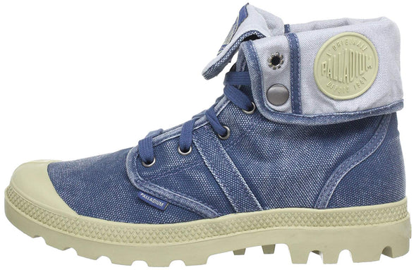 PALLADIUM Pallabrouse Baggy Blue Canvas Fold Over Men's Hiking Boots