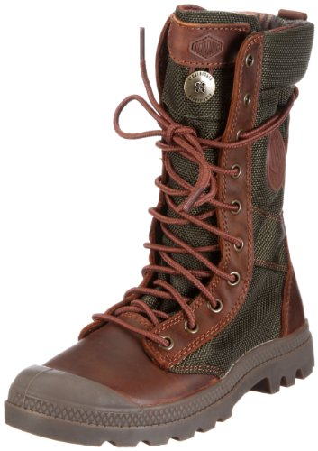 Palladium Pampa Tactical Men's Tall Lace Up Side Zip Boot Brn/Olive Drab