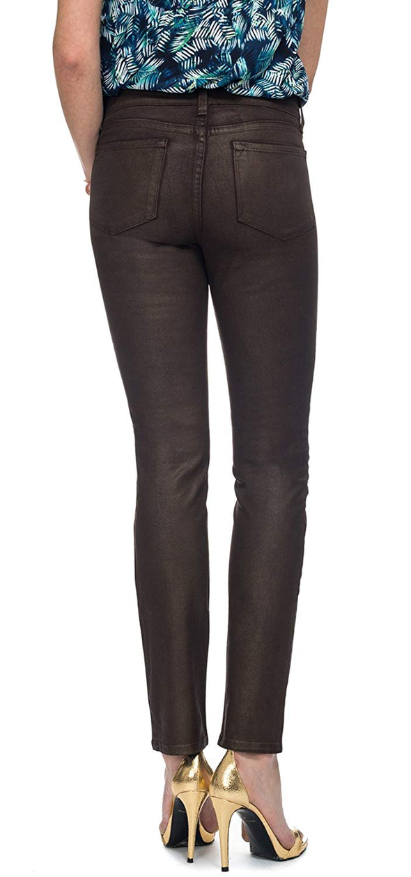 NYDJ Not Your Daughters Jeans Coated COPPER $128 SKINNY CPI Petite
