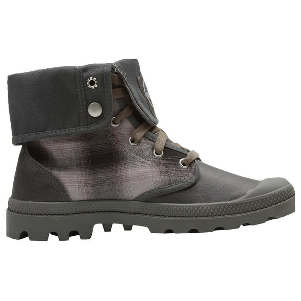 PALLADIUM Baggy II Charcoal/Black Men's Multi-Color Fold Over Combat Hiking Boots
