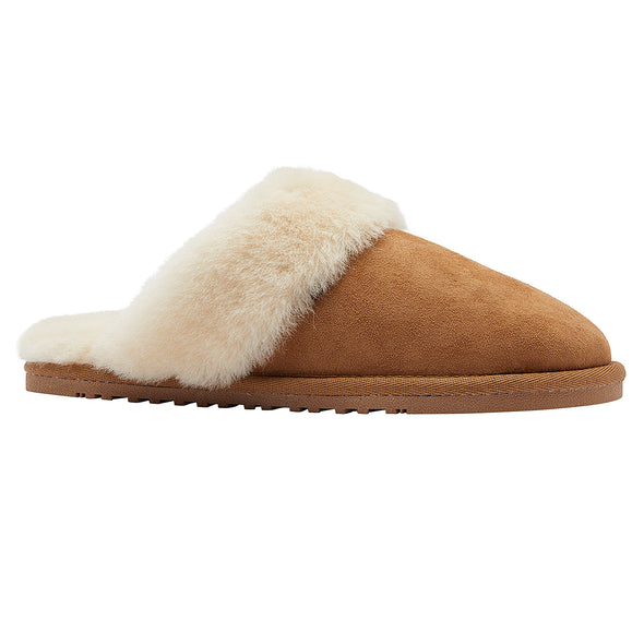 Lamo Lady's Suede Scuff Double Face CW1944 Women's Australian Sheepskin Chestnut