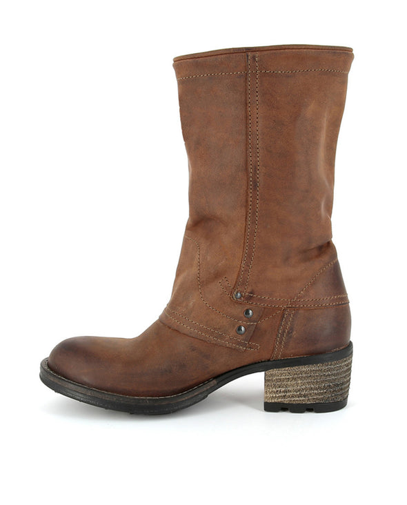 PLDM by Palladium Capper CRS Women's Mid-Calf Leather Boots in Cognac