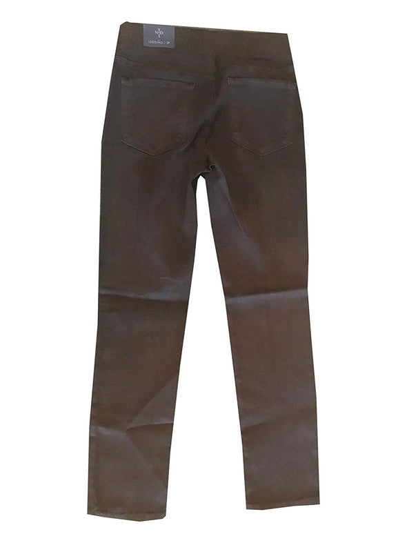 NYDJ Not Your Daughters Jeans Carib BROWN Legging Pull On Pants $110 Petite