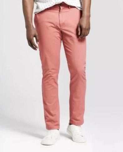 Goodfellow & Co Men's Slim Fit Hennepin Chino Pants Peach