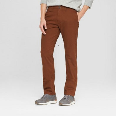Goodfellow & Co Straight Fit Hennepin Chino Brown Men's Pants