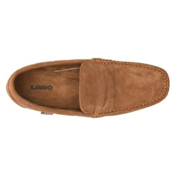 Lamo Connor Suede Chestnut EM1811 Men's Slip-On Loafer Microfiber Lining Footbed