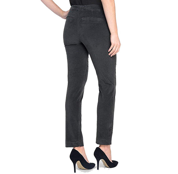 NYDJ Not Your Daughters ECLIPSE DARK GRAY VELVETEEN Ankle Pants