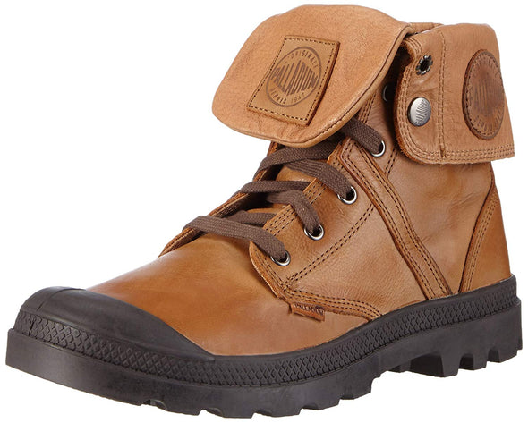 PALLADIUM Pallabrouse Baggy L2 Copper Kettle/Chocolate Men's Leather Fold Over Hiking Combat Boots