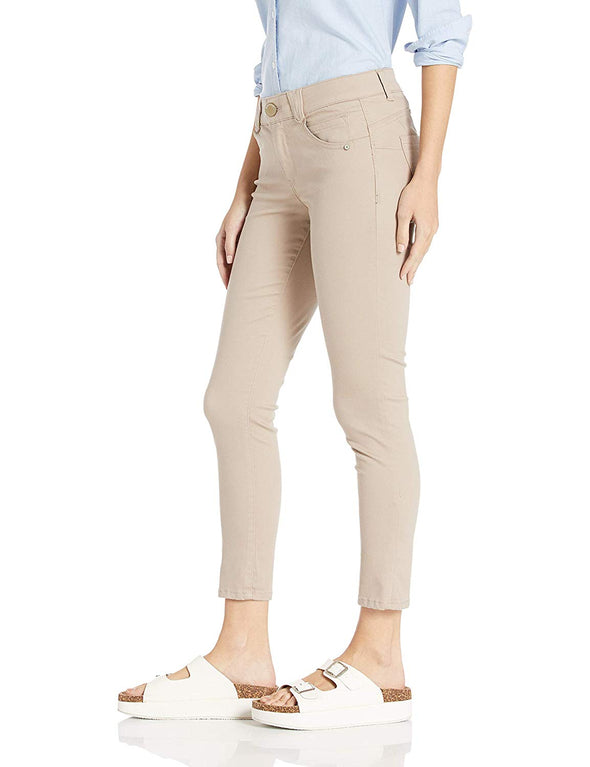 "Democracy Women's 25"" Ab Solution Ankle Skimmer Color Flax Tan"