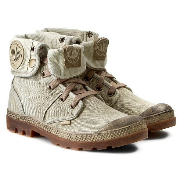 Palladium Pallabrouse Baggy Women's Chukka Canvas Hiking Boot in Dark Khaki/Putty