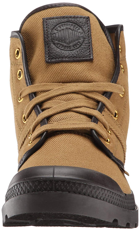 PALLADIUM Pallabrouse TW Dull Gold/After Dark Men's Canvas Lace Up Hiking Combat Boots