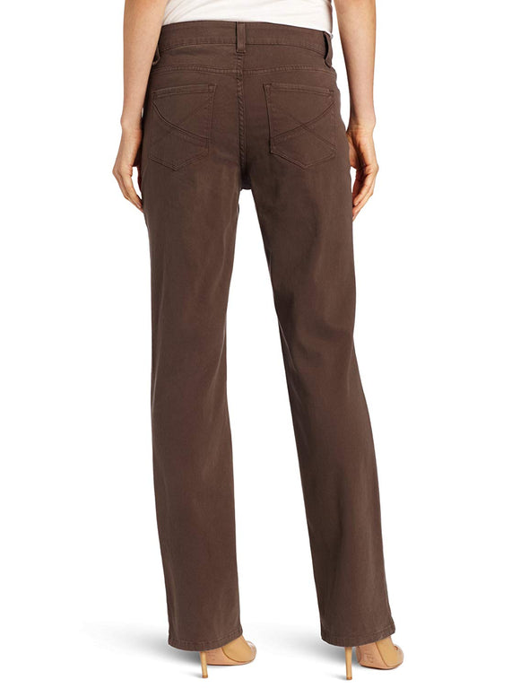 NYDJ Not Your Daughters Jeans STRAIGHT ERTHG Earth Green Brown Petite