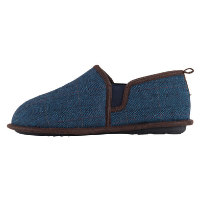 Lamo Elk Slipper Dark Blue Plaid EM1814 Men's Sizes