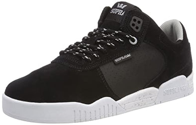 Supra Ellington Men's Black/Lt Grey-White Athletic Sneakers Skate Skateboarding Shoes