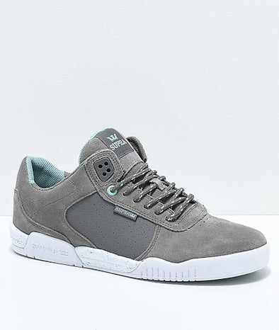 Supra Ellington Men's Grey-White Athletic Sneakers Skate Skateboarding Shoes