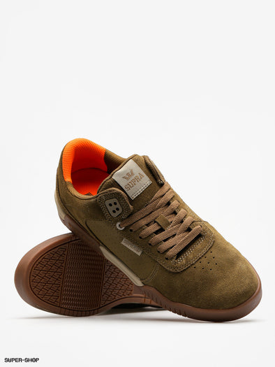 Supra Ellington Men's Olive/Dark Gum Athletic Sneakers Skate Skateboarding Shoes