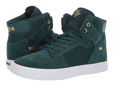 Supra Vaider Men's Hi-Top Skate Boarding Shoe Evergreen/Gold-White