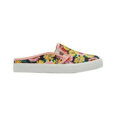 Lamo Evie EW1904 Pink Floral Mule Sneaker Canvas Insole Vulcanized Rubber Outsole