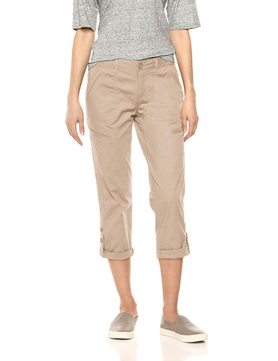 "Democracy Women's 23"" Flex ellent Convertible Utility Crop Pant WALNUT"