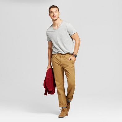 Goodfellow & Co Men's Khaki Hennepin Chino Pants Straight Leg