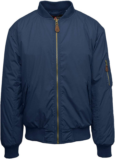 Spire by Galaxy Defend Navy Flight Jacket SP-140NV Men's Waterproof Jacket