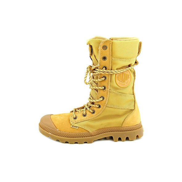 Palladium Pampa Tactical Amber Gold/Gum Mid-Calf Side Zip Women's Boots 8.5