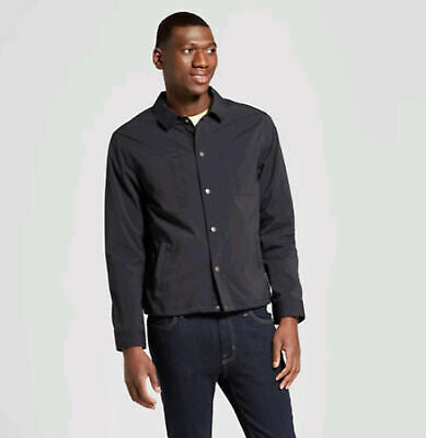 Goodfellow & Co Deep Charcoal Black Coach Military Jacket