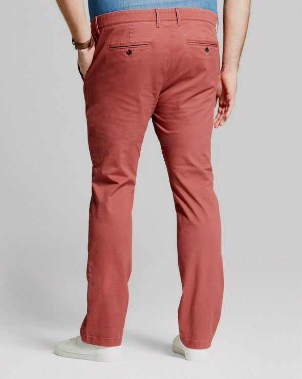 Goodfellow & Co Hennepin Chino Red Men's Pants Straight Leg Fit