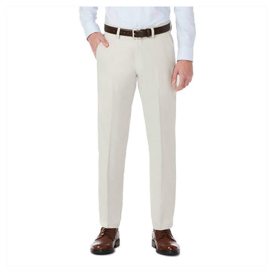 Haggar Super Flex Waistband H26 Performance Straight Fit Trouser Dress Pants