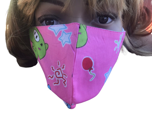 Face Mask Double Layer Fashion Protection Reusable Washable Pink Character Masks