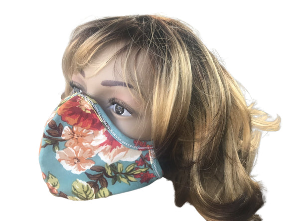 Face Mask Double Layer Fashion Protection Reusable Washable Floral Design Face Masks