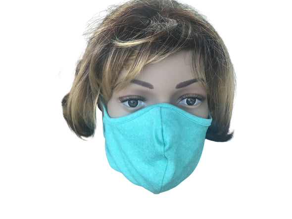 Face Mask Double Layer Fashion Protection Reusable Washable GREEN Masks